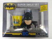 NEW DC Batman Super Smile Toothbrush Toothbrush Holder Rinse Cup Gift Set