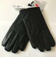 BNWT MENS POLO RALPH LAUREN BLACK  NAPPA LEATHER 3M THINSULATE GLOVES XLARGE