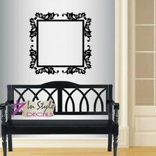Vinyl Decal Baroque Frame Square Ornament  Antique Mural Wall Sticker Decor 1371