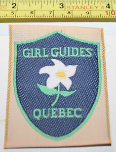 Girl Guides Quebec Canada Fabric Label Patch