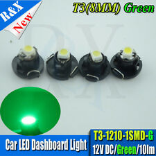 10pcs T3 LED 1210 SMD Car Green Dash Board Cluster Gauges Lights Bulbs DC 12V