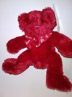 """Target So Sweet Red Bear  8"""" Plush Stuffed Animal"""