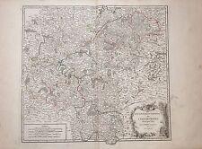 FRANCE , L'ISLE DE FRANCE,  mapa original Gilles Robert De Vaugondy,1751.