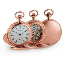 Woodford Rose Gold Plated Mechanical Twin Lidded Hunter Pocket Watch. ref 1093
