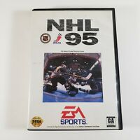 NHL 95 Sega Genesis Video Game Complete in Box CIB