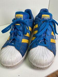 Adidas Superstar J Blue/Gold-White F37789 Size 7