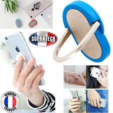 Mini Support Universel Tous Smartphones Magnétique 360 Ring Bleu Anneau Doigt