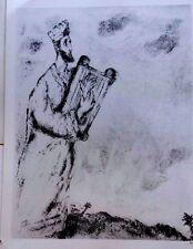 Marc Chagall offset lithograph Bible  paris maeght 1960 original  2 sided 144