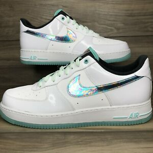 Nike Air Force 1 Patent Leather 'Tropical Twist' White Shoes DD9613-100 Men's 15