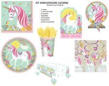 Kit anniversaire enfant LICORNE décoration de table - fête - goûter 8 enfants