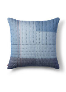 """Levi's X Target 24""""x24"""" Quilted Patchwork Oversized Pillow Blue"""