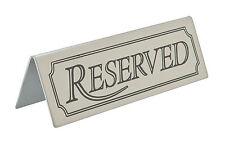 Signe en acier inoxydable réservés tableau signes plateau de table bar restaurant café