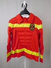 Totally Ghoul Boy's Muscle Firefighter Halloween Costume Top Only Medium #5478