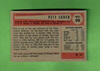 1954 BOWMAN #99 PETER SUDER PHILADELPHIA ATHLETICS NEAR MINT