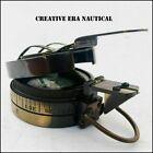 Antique Handmade Surveying Engineering Maritime Brass Pocket Compass GIFT