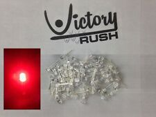 100x Red 5mm Flat Top Wide Angle Leds Lamp Ultrabright Light Dash Rc Usa