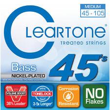 Cleartone 6445 Bass Guitar Strings Nickel Plated Steel Medium Coated 45-105