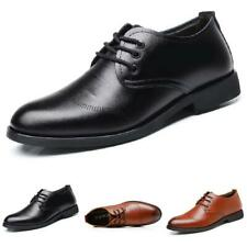 Men Business Leisure Faux Leather Shoes Pointy Toe Work Office Oxfords Lace up D