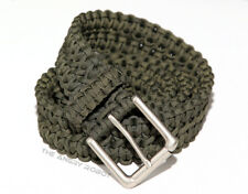 Paracord Belt - OD Green with Matte Nickle Buckle - S M L XL