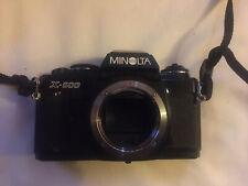Minolta X-500 SLR FILM CAMERA Black Colour-Way, Body Only