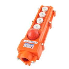 Rainproof 4 Ways Hoist Pushbutton Switch Pendant Control Station Emergency Stop