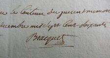 Philippe Braquet,Arras. Sculpteur du Palais épiscopal de Sées. Signature 1778