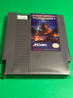 🔥 💯 WORKING NINTENDO NES GAME CARTRIDGE Acclaim IRONSWORD WIZARDS & WARRIORS 2