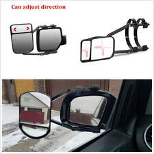 Universal Adjustable Car Caravan Trailer Towing Dual Mirror Clip-on Wing Mirror