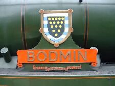 Photo Steam Loco nameplate 6X4 SR West Country Bodmin