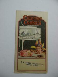 c.1920s Coleman Cookers Gas Stove Catalog Brochure Wichita Kansas Vintage VG
