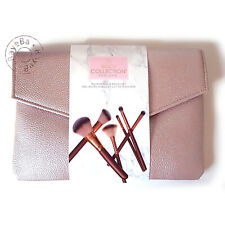 Body Collection Clutch Bag & Brush Set Kit - Pink Rose Gold - Vegan Friendly