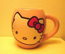 Sanrio-Vandor-Hello Kitty 18 oz Oval Ceramic Pink Coffee Mug