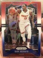 2019-20 Panini Prizm Bam Adebayo Red White Blue #144 Miami Heat RWB NBA