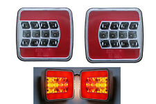 2x 12V LED REAR NEON GLOW TAIL STOP LIGHTS LAMPS TRAILER TRUCK CHASSIS VAN Emark