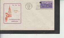FDC #835 150TH ANNIV,PHILA.,PA JUN 21 1938 MAKER UNKNOWN UNADDRESSED FLAP FREE