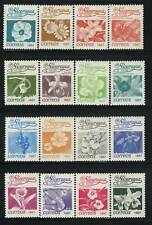 Flowers by Nicaragua MNH Sc 1592-1607 Defenitive Orchid