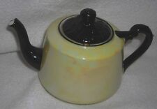 Antique -Vtg Union T Made In Czechoslovakia Yellow Pearly Iridized China Teapot
