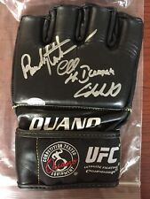 CHUCK LIDDELL AND RANDY COUTURE SIGNED UFC GLOVE - mma autograph ouano