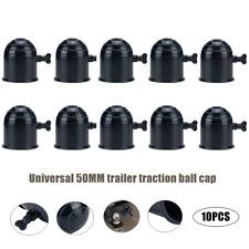10 x 50mm Black Tow Ball Bar Cap Cover Towing Car Van Trailer Towball Protection