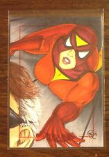Spider Woman Spider-Man Archives color sketch card 1/1 Rhiannon Owens