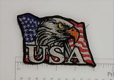 USA Eagle - Club Harley Biker Funny Motorcycle Iron On Small Patch