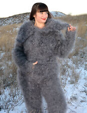 HAND-KNITTE Coverall Overalls Jumpsuit Longhair 100% Goat Down Mohair by D.Tolik