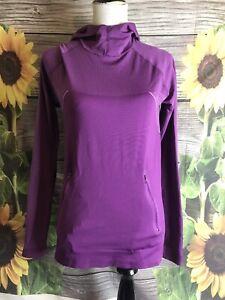 TITLE NINE Purple floral long sleeve seamless shirt Medium hooded