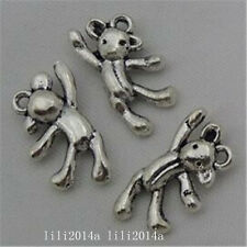 12pc Tibetan Silver bear Charm Beads Pendant accessories wholesale PL1015