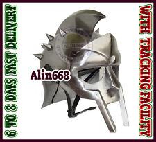 Medieval Vintage Armor Roman Gladiator Maximus Helmet Adult Wearable Helm