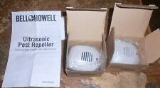 2-lot 2010 bell + howell style 50165MO-5 ultrasonic pest repellers in box new