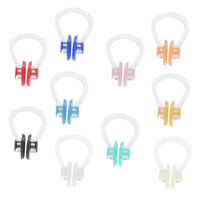 10 Pack Swimming Nose Clip Silica Gel Nose Plug Protector for Kids Adults