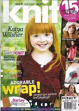Knit magazine Kids wrap Lace hat Boho linen cardigan Flower brooches Barley bag