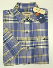 Tommy Bahama Camp Shirt Size Large Manoa Madras 100 Silk Ritzy Purple A39