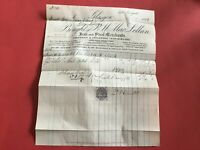 P&W MacLellan Iron and Steel Merchants  1881 Glasgow receipt R33428